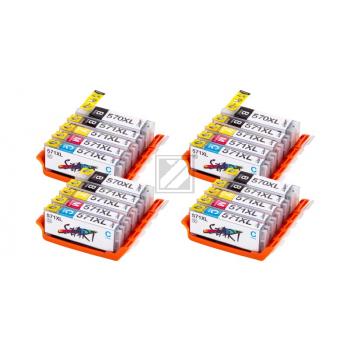 20 XL Ersatz Chip Patronen kompatibel zu Canon PGI-570 PGBK XL Schwarz, CLI-571BK XL Foto-Schwarz, CLI-571C XL Cyan, CLI-571M XL Magenta, CLI-571Y XL Gelb