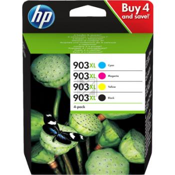 Original HP 3HZ51AE / 903XL Tinte schwarz, cyan, magenta, gelb - 4 Stück