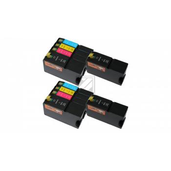 10 XL Ersatz Chip Druckerpatronen kompatibel zu Lexmark 200XL / 210XL Schwarz, Cyan, Magenta, Gelb