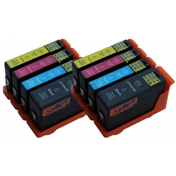 8 Compatible Ink Cartridges to Lexmark L150 (BK, C, M, Y)