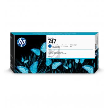 HP Tintenpatrone chromatic blau (P2V85A, 747)