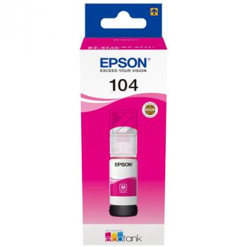 Epson Tintennachfüllfläschchen (ecotank) magenta (C13T00P340, 104)