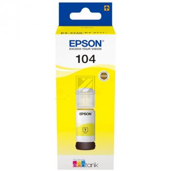 Epson Tintennachfülltank gelb (C13T00P440, 104)