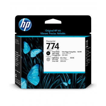 HP Tintendruckkopf schwarz photo/grau light (P2W00A)