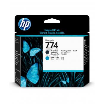 HP Tintendruckkopf schwarz matt/cyan (P2W01A)