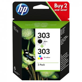 HP Tintendruckkopf 3-farbig schwarz (3YM92AE, 303)