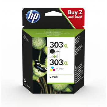 HP Tintendruckkopf cyan/gelb/magenta schwarz HC (3YN10AE, 303XL)