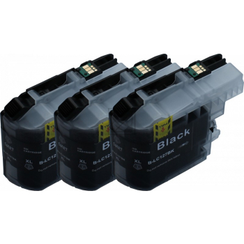 3 Compatible Ink Cartridges to Brother LC127 / LC125  (BK) XL