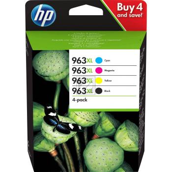 HP Tintendruckkopf gelb cyan magenta schwarz HC (3YP35AE, 963XL)