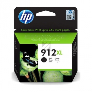 HP Tintenpatrone schwarz HC (3YL84AE, 912XL)