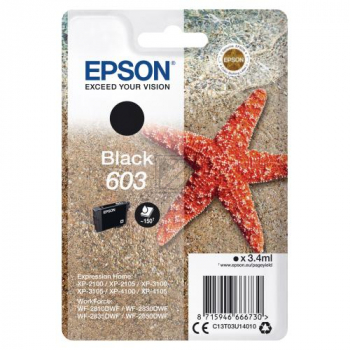 Epson Tintenpatrone schwarz (C13T03U14010, 603)