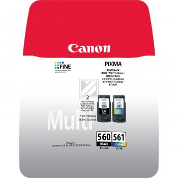 Canon Tintenpatrone cyan/gelb/magenta schwarz (3713C006, CL-561 PG-560)