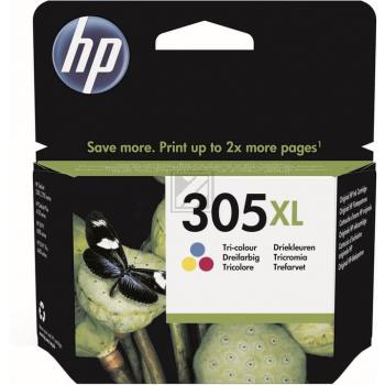 HP Tintenpatrone cyan/gelb/magenta HC (3YM63AE#UUS, 305XL)