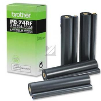Brother Thermo-Transfer-Rolle 4 x schwarz 4-er Pack (PC-74RF)