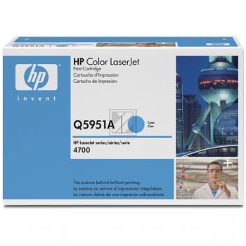 Hewlett Packard Toner-Kartusche cyan (Q5951A, 643A)