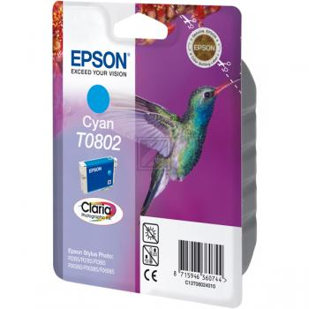 Epson Tintenpatrone cyan (C13T08024010, T0802)