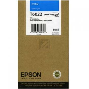 Epson Tintenpatrone Ultra Chrome K3 cyan (C13T562200 C13T602200, T6022)