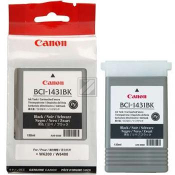 Canon Tintenpatrone Pigmentierte Tinte schwarz (8963A001, BCI-1431BK)