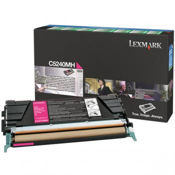Lexmark Toner-Kartusche magenta High-Capacity (C5240MH)
