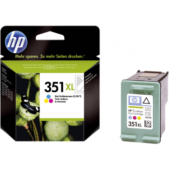 HP Tintendruckkopf cyan/gelb/magenta HC (CB338EE, 351XL)