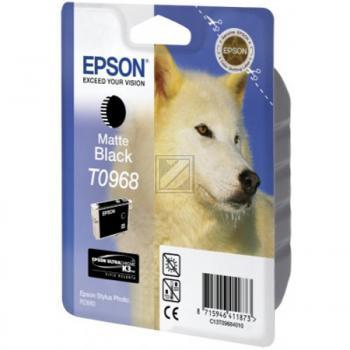 Original Epson C13T09684010 / T0968 Tinte schwarz matt