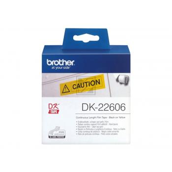 Brother Endlos-Etikett gelb (DK22606)