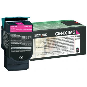 Lexmark Toner-Kartusche Prebate magenta HC plus (C544X1MG)