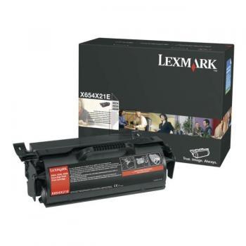 Original Lexmark X654X21E Toner Black