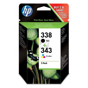 Hewlett Packard Tintenpatrone cyan/gelb/magenta schwarz (SD449EE, 338 343)