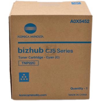Konica Minolta Toner-Kit cyan (A0X5452, TNP-22C)