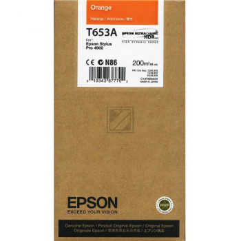 Original Epson C13T653A00 / T653A Tinte Orange