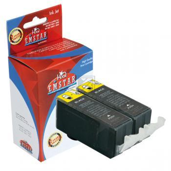 Emstar Tintenpatrone 2 x schwarz 2-Pack (10C101C101, 10C101C101 C106)