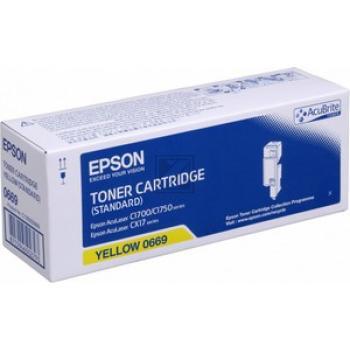 Original Epson C13S050669 / S050669 Toner Gelb