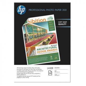 HP Fotopapier Hochglanz DIN A4 Fotopapier glänzend weiß 100 Blatt DIN A4 200 g/m² (CG966A)