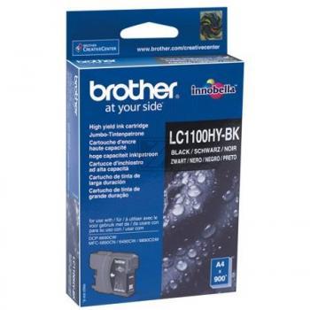 Brother Tintenpatrone 2 x schwarz 2-Pack HC (LC-1100HYBKBP2DR)
