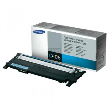 Original Samsung CLT-C406S/ELS Toner Cyan (HP ST984A) (Original)