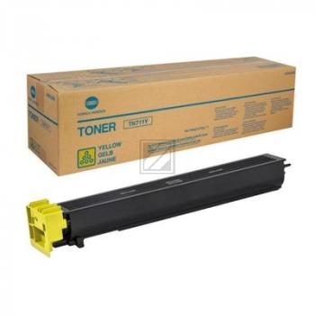 Konica Minolta Toner-Kit gelb (A3VU250, TN-711Y) Qualitätsstufe: B