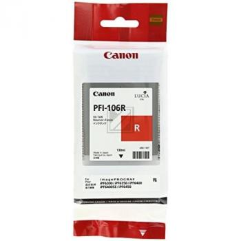 Original Canon 6627B001 / PFI-106R Tinte Rot