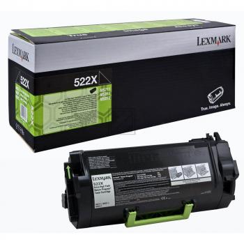 Lexmark Toner-Kartusche Return schwarz HC plus (52D2X00, 522X)