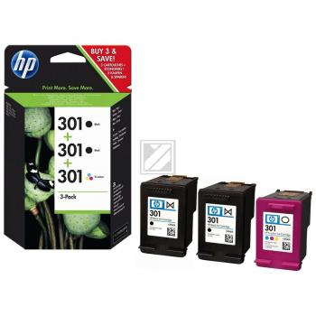 HP Tintendruckkopf cyan/gelb/magenta 2x schwarz 3-er Pack (E5Y87EE, 3x 301)