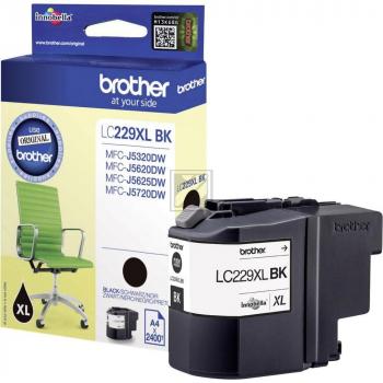 Brother Tintenpatrone schwarz HC (LC-229XLBK)