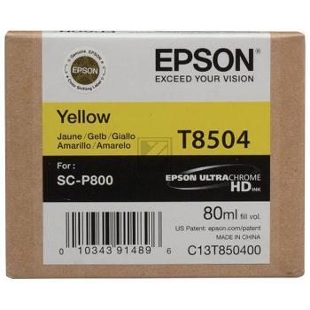 Original Epson C13T850400 / T8504 Tinte Yellow