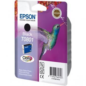 Epson Tintenpatrone schwarz (C13T08014010, T0801)