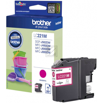 Brother Tintenpatrone magenta (LC-221M)