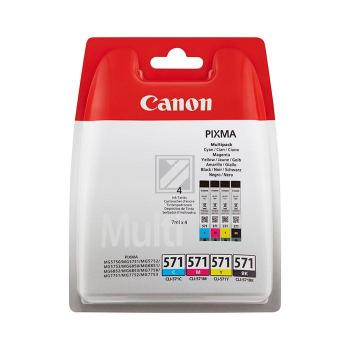 Canon CLI571   Combopack 4er Set, Canon Tintenpatronen, schwarz, cyan, magenta und gelb