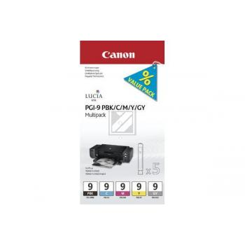 Canon Tintenpatrone gelb, cyan, magenta, photo schwarz (1034B013, PGI-9C, PGI-9M, PGI-9PBK, PGI-9Y)