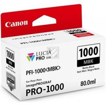 Canon Tintenpatrone schwarz matt (0545C001, PFI-1000MBK)