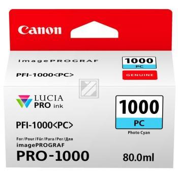 Canon Tintenpatrone Photo cyan (0550C001, PFI-1000PC)