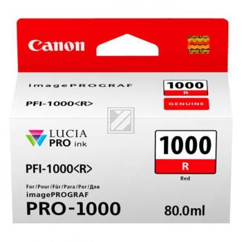 Canon Tintenpatrone rot (0554C001, PFI-1000R)