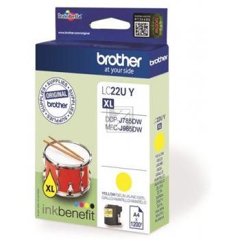 Brother Tintenpatrone gelb (LC-22UY)